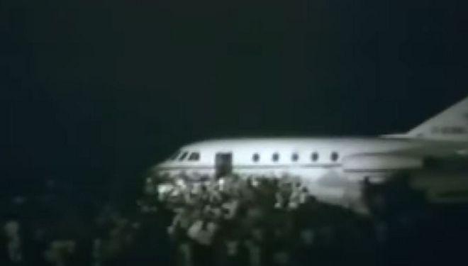 Το αεροσκάφος που έφερε στην Αθήνα τον Κ. Καραμανλή.