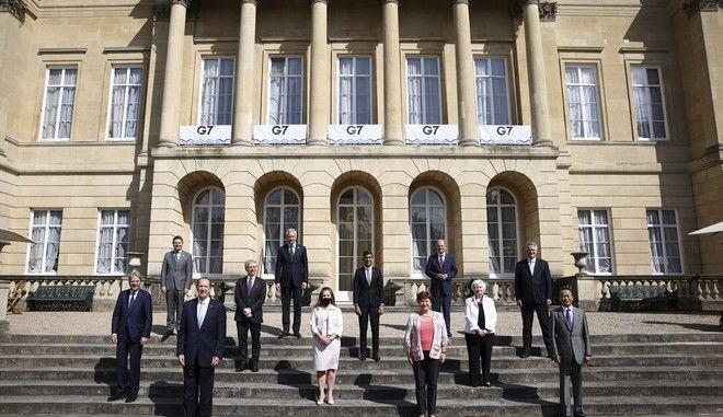 Οι υπουργοί Οικονομικών της G7 στη συνάντησή τους στο Λονδίνο