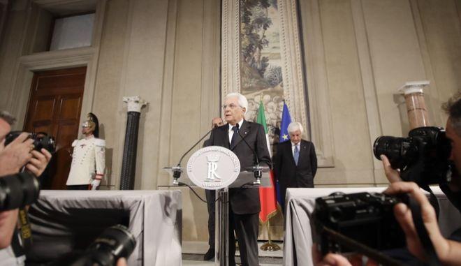 Ο Ιταλός πρόεδρος.