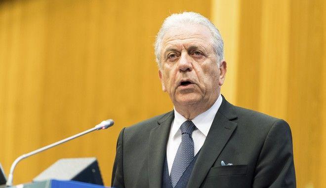 Ο Επίτροπος για τη Μετανάστευση, τις Εσωτερικές Υποθέσεις και την Ιθαγένεια Δημήτρης Αβραμόπουλος σε ομιλία του στη Βιέννη τον Μάρτιο του 2019