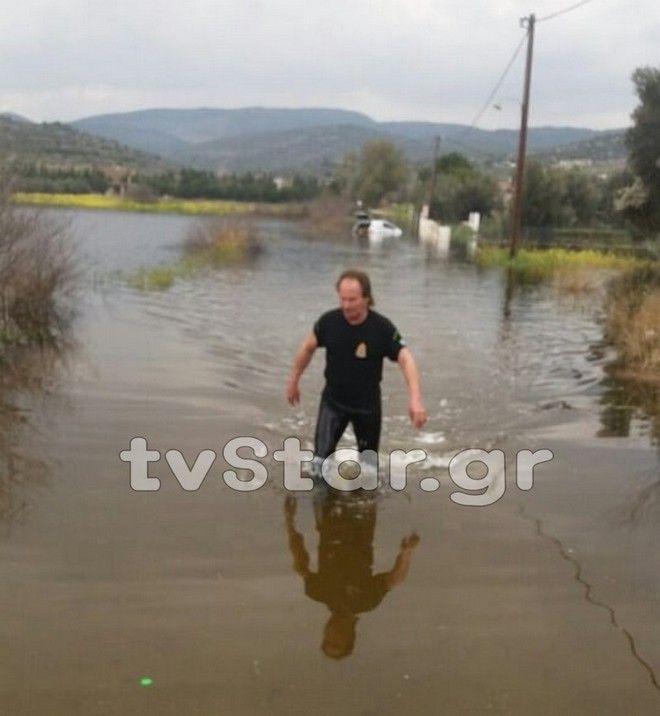 Εύβοια: Σε κατάσταση εκτάκτου ανάγκης περιοχές της Χαλκίδας - Κινδύνεψε οδηγός