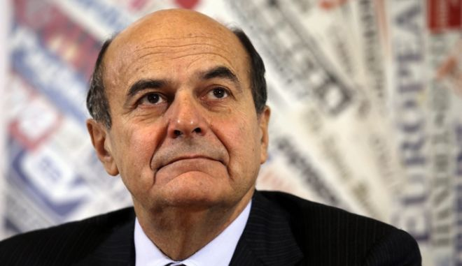 Democratic Party secretary Pierluigi Bersani listens to a question at the foreign press club in Rome, Thursday, Dec. 13, 2012. Bersani said on Thursday that he is certain that Berlusconi will not win the upcoming elections. (AP Photo/Gregorio Borgia)