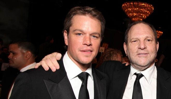 BEVERLY HILLS, CA - MARCH 27: **EXCLUSIVE** Matt Damon, Harvey Weinstein and Ben Affleck at the 24th American Cinematheque Annual Gala Honoring Matt Damon on March 27, 2010 at the Beverly Hilton Hotel in Beverly Hills, CA. (Photo by Eric Charbonneau/Invision/AP Images)