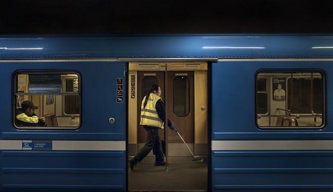 Απολύμανση του μετρό στη Σουηδία