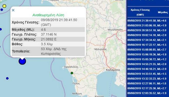 Σεισμός 4,6 Ρίχτερ ταρακούνησε το Ιόνιο