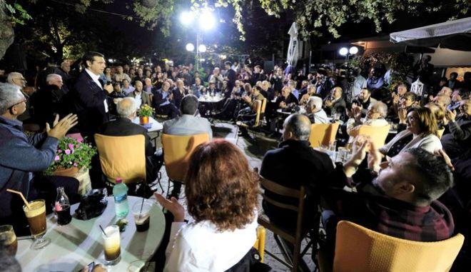 Περιοδεία του προεδρου του ΣΥΡΙΖΑ Αλέξη Τσίπρα στο νομό Βοιωτίας.