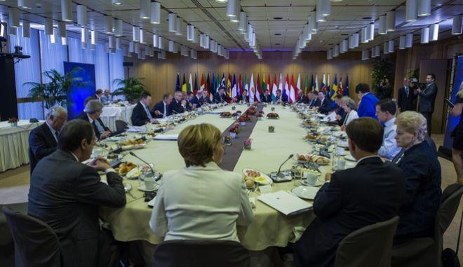 Στιγμιότυπα από παλαιότερη σύνοδο κορυφής του Ευρωπαϊκού Συμβουλίου στις Βρυξέλλες