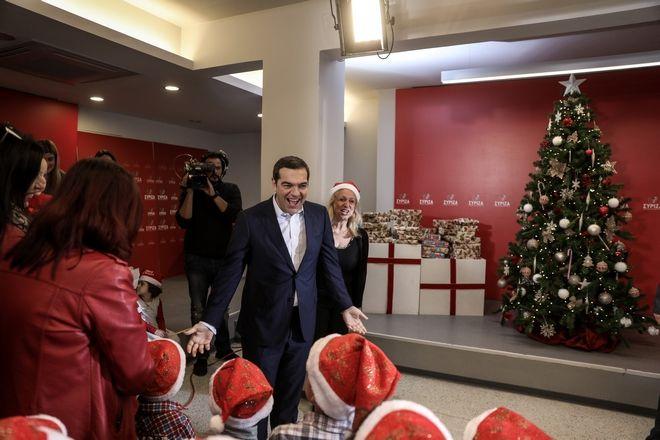 Χριστουγεννιάτικα κάλαντα στον πρόεδρο του ΣΥΡΙΖΑ Αλέξη Τσίπρα, την Τρίτη 24 Δεκεμβρίου 2019