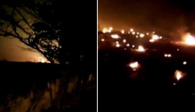 Συντριβή Boeing στο Ιράν: Συγκλονιστικά πλάνα από τη στιγμή της τραγωδίας