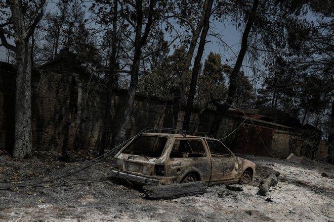 Εικόνα από τη φωτιά στην Εύβοια