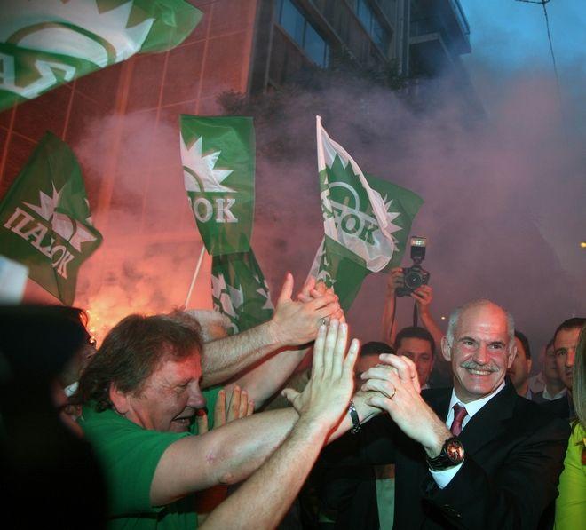 Ο Πρόεδρος του ΠΑΣΟΚ μετά τα αποτελέσματα των ευρωεκλογών του 2009