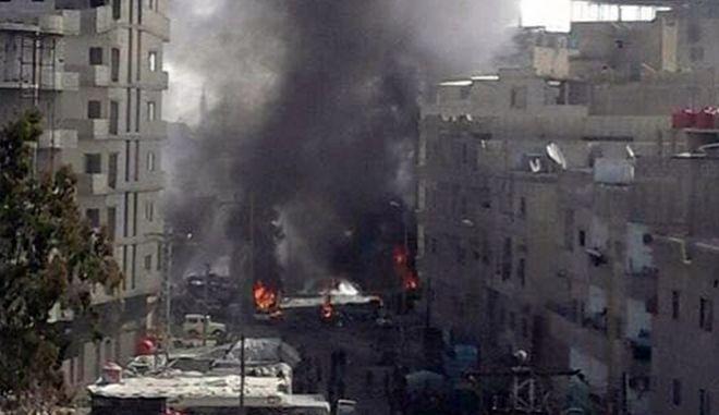 Επίθεση αυτοκτονίας στη Δαμασκό με δεκάδες νεκρούς και τραυματίες
