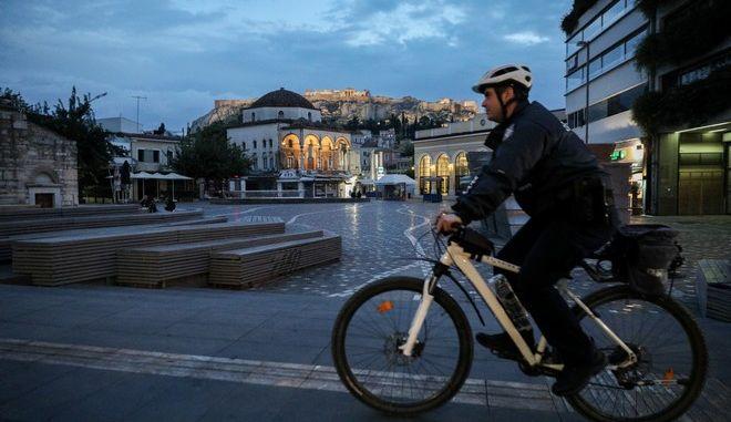 Μετακίνηση με ποδήλατο στην Αθήνα