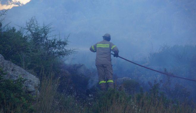 ΡΟΔΟΣ-Η αυτοθυσία των πυροσβεστών έσωσε την Καλλιθέα! Στην κυριολεξία μέσα στους καπνούς και τις φλόγες χώθηκαν οι πυροσβέστες για να αναχαιτίσουν την πυρκαγιά που ξέσπασε στην θαμνώδη περιοχή και με τους δυνατούς ανέμους να βοηθούν τις φλόγες να εξαπλώνονται. Μάλιστα από την στιγμή που εκδηλώθηκε η φωτιά, λόγω των ισχυρών ανέμων κατάφερε και εξαπλώθηκε δημιουργώντας αρκετές εστίες μικρότερης ισχύεις. Στο σημείο της Πυρκαγιάς έφθασαν 6 οχήματα με τα πληρώματά τους, τα οποία με συντονισμένες ενέργειες και αυτοθυσία κατάφεραν έγκαιρα να περιορίσουν τις φλόγες και να αναχαιτίσουν την φωτιά σε πάρα πολύ γρήγορο χρονικό διάστημα. Αξίζει να σημειωθεί ότι η περιοχή είναι βραχώδη και δύσβατη. Οι πρώτες ενδείξεις για την αιτία που προκάλεσαν την πυρκαγιά, όπως προδίδουν οι εστίες, φαίνεται να ξεκίνησαν κοντά σε κολώνες μεταφοράς ενέργειας της ΔΕΗ, γεγονός που επιβεβαιώνει και η δυσκολία πρόσβασης λόγω του ανάγλυφου της περιοχής, άρα και σχεδόν ανέφικτο να ξέσπασαν από χέρι εμπρηστή. Έρευνα για τα πραγματικά αίτια που προκλήθηκε η πυρκαγιά, διενεργεί το ανακριτικό τμήμα της Πυροσβεστικής Υπηρεσίας Ρόδου. Το ανησυχητικό είναι ότι έχουν αυξηθεί με άσχημο ρυθμό οι πυρκαγιές από τις ασυντήρητες κολώνες μεταφοράς ηλεκτρικής ενέργειας της ΔΕΗ.(Eurokinissi-RODOS PRESS-ΑΡΓΥΡΗΣ ΜΑΝΤΙΚΟΣ)