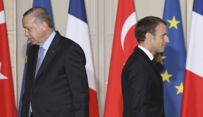 Ρετζέπ Ταγίπ Ερντογάν και Εμανουέλ Μακρόν