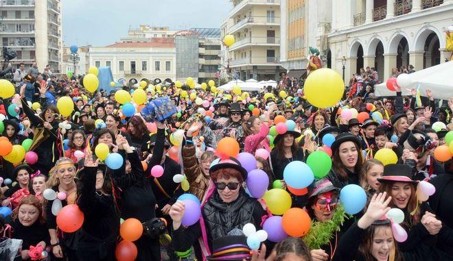 Στιγμιότυπο από το Πατρινό Καρναβάλι την κυριακή 13 Μαρτίου 2016. (EUROKINISSI)
