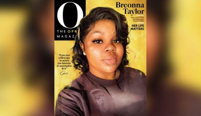 Η Μπριόνα Τέιλορ γίνεται εξώφυλλο στο περιοδικό της Όπρα