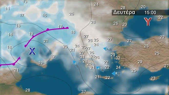 Τοπικές βροχές κυρίως στα δυτικά και βόρεια την Κυριακή - Άνοδος της θερμοκρασίας