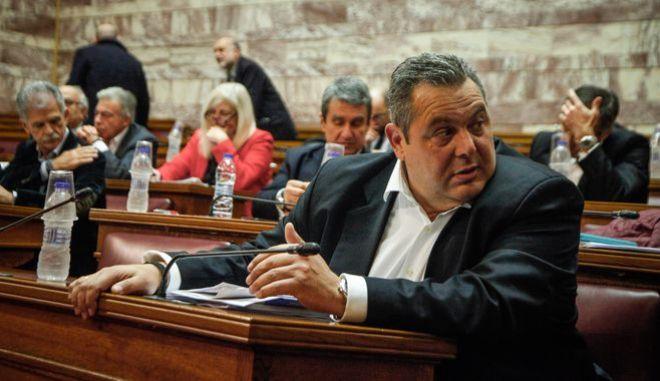 Ο Πάνος Καμμένος στην επιτροπή εξωτερικών υποθέσεων της βουλής