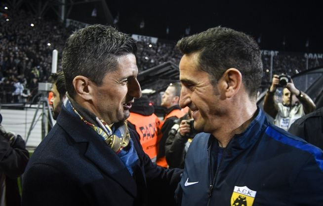 Oι δύο προπονητές, Ραζβάν Λουτσέσκου και Μανόλο Χιμένεθ