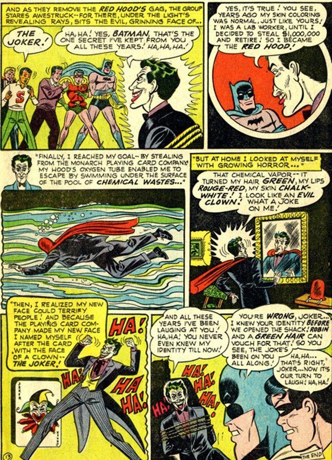 To origin story του Τζόκερ από το Detective Comics #168