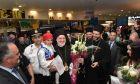 Ο Αρχιεπίσκοπος Αμερικής Ελπιδοφόρος κατά την υποδοχή του