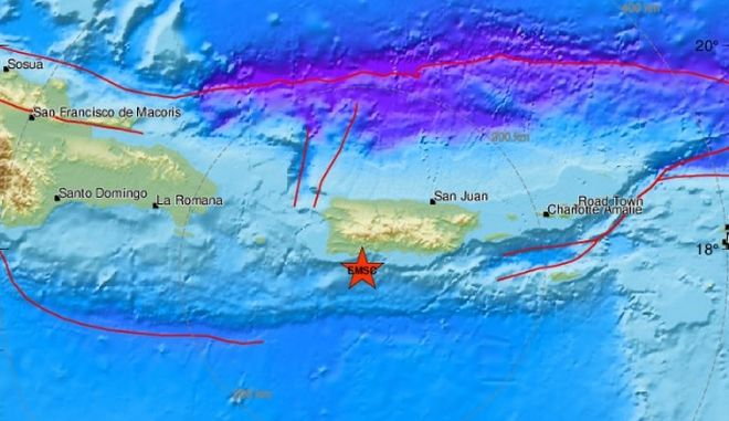 Σεισμός 6 Ρίχτερ στο Πουέρτο Ρίκο