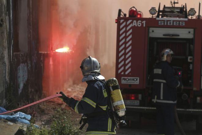 Άσκηση της Πυροσβεστικής στη Δραπετσώνα