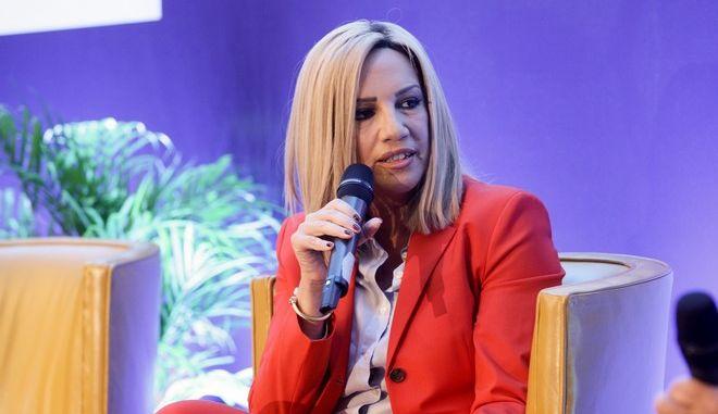 Η πρόεδρος του ΠΑΣΟΚ, Φώφη Γεννηματά