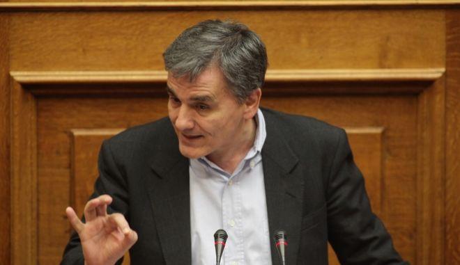 Ο υπουργός Οικονομικών Ευκλείδης Τσακαλώτος σε παλαιότερη ομιλία στη Βουλή