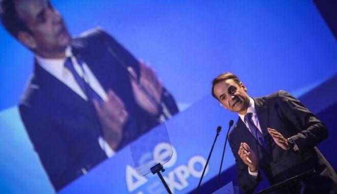 Ο πρόεδρος της Νέας Δημοκρατίας Κ. Μητσοτάκης στην 83η ΔΕΘ