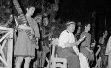 Σκηνή με τον Πόντιο Πιλάτο σε παράσταση που παίζεται κάθε χρόνο την Μ. Παρασκευή σε κωμόπολη κοντά στη Ρώμη
