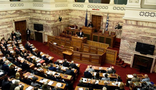 Στιγμιότυπο από την συνεδρίαση της κοινοβουλευτικής ομάδας του ΣΥΡΙΖΑ.Ομιλία του πρωθυπουργού Αλέξη Τσίπρα, Τετάρτη 8 Νοεμβρίου 2017 (EUROKINISSI/Τατιάνα Μπόλαρη)