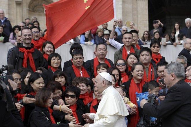 Ο Πάπας Φραγκίσκος με Κινέζους πιστούς