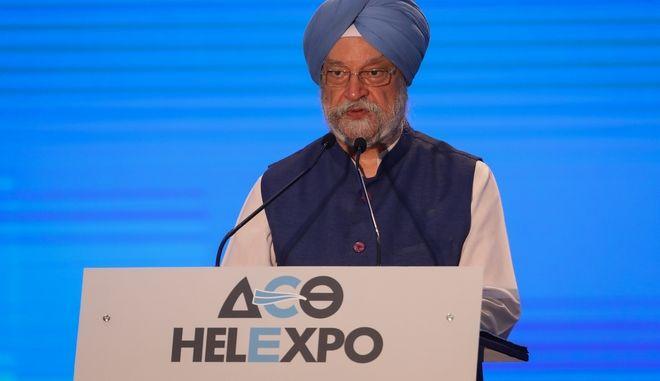 Ο Ινδός Υπουργός Εμπορίου Hardeep Singh Puri.