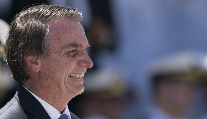 Ο Βραζιλιάνος πρόεδρος Ζαΐρ Μπολσονάρο σε εκδήλωση στο Ρίο ντε Τζανέιρο