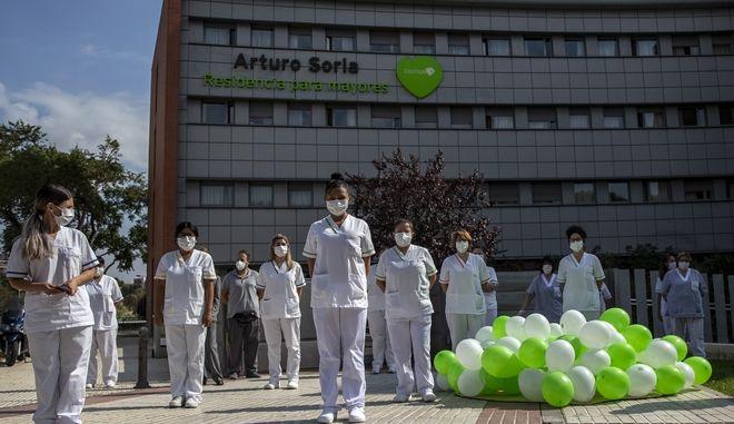 Διαδήλωση των επαγγελματιών υγείας στην Ισπανία