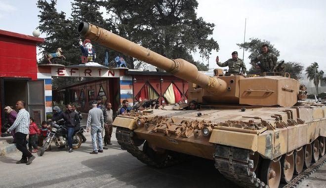 Τούρκοι στρατιώτες στο Αφρίν (AP Photo/Lefteris Pitarakis)