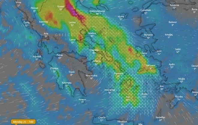 Καιρός: Ισχυρές καταιγίδες και θυελλώδεις άνεμοι την Κυριακή - Πόσο θα διαρκέσει το νέο κύμα κακοκαιρίας