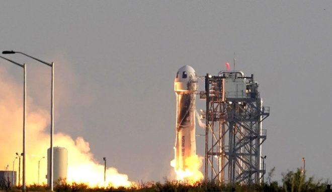 Η στιγμή της εκτόξευσης του «New Origin Shepard»