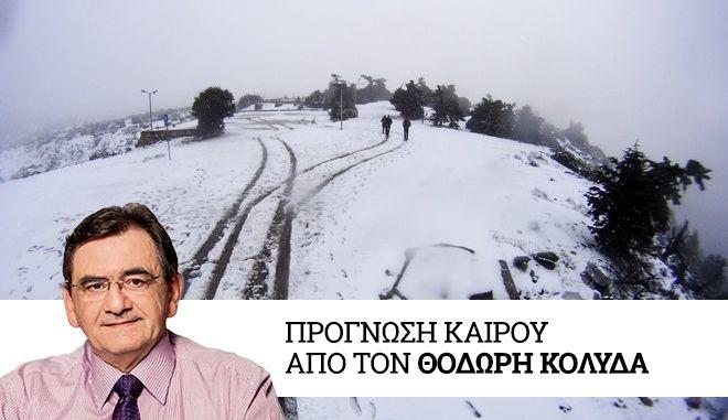 Χιόνια στην Πάρνηθα τον Νοέμβριο του 2018