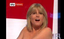 Η αδελφή του Boris Johnson έβγαλε τα στήθη της on air για το Brexit