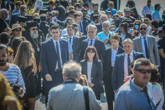 Μνημόσυνο για τα 102 θύματα της τραγωδίας στο Μάτι, παρουσία της Προέδρου της Δημοκρατίας Κατερίνας Σακελλαροπούλου , την Κυριακή 19 Ιουλίου 2020