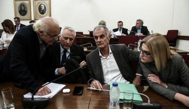 Συνεδρίαση της Ειδικής Κοινοβουλευτικής Επιτροπής προς διενέργεια Προκαταρκτικής Εξέτασης σχετικά με τη διερεύνηση αδικημάτων που τυχόν έχουν τελεσθεί από τον πρώην Αναπληρωτή Υπουργό Δικαιοσύνης Δημήτριο Παπαγγελόπουλο κατά την άσκηση των καθηκόντων του