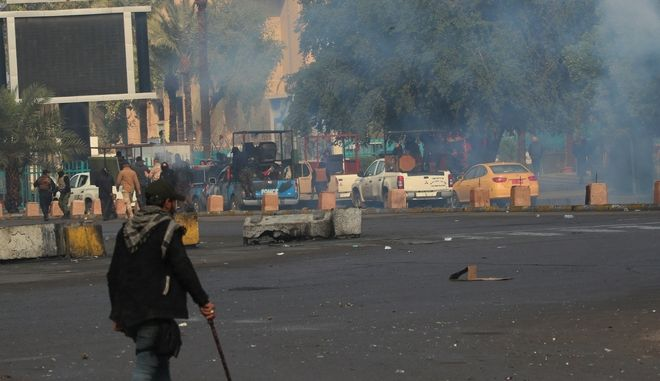 Σύγκρουση αστυνομίας και διαδηλωτών στο Ιράκ
