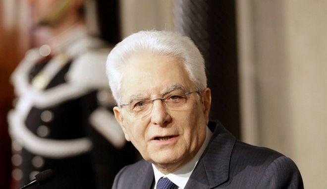 O  Ιταλός Πρόεδρος της Δημοκρατίας Σέρτζιο Ματαρέλα