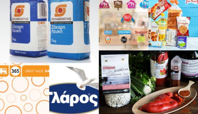 Προϊόντα private label (ιδιωτικής ετικέτας)  ελληνικών σούπερ μάρκετ