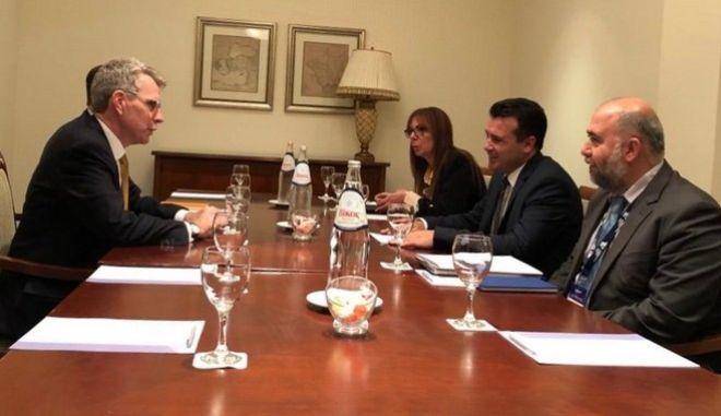 Thessaloniki Summit: Τετ α τετ Πάιατ - Ζάεφ