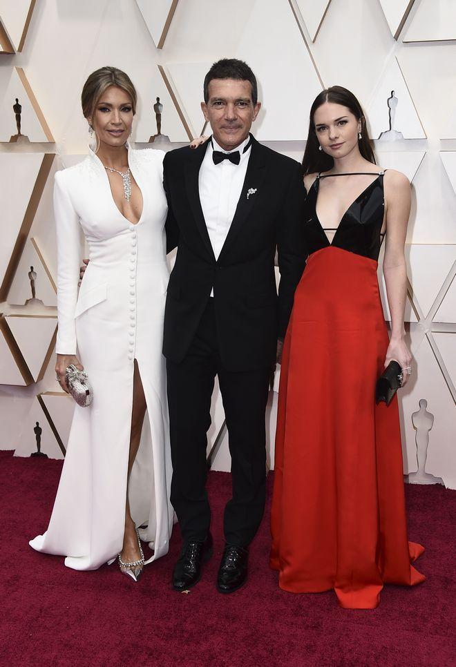 Nicole Kimpel, Antonio Banderas και Stella Banderas στα Όσκαρ 2020