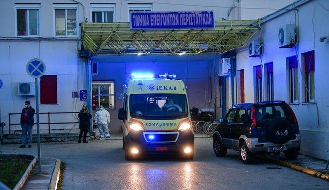 Στιγμιότυπο σπό το νοσοκομείο Αμαλιάδας